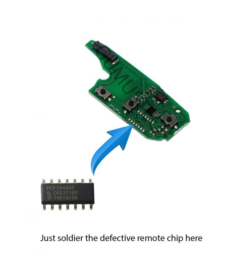 Fiat Fiorino Remote RepairBoard-fiat-3-button-flip-remote-repair-board-pcb-circuit-delphi-pcf7946-id46-fiat-fiorino-doblo-punto-qubo-fiat500-oem-original-after-market